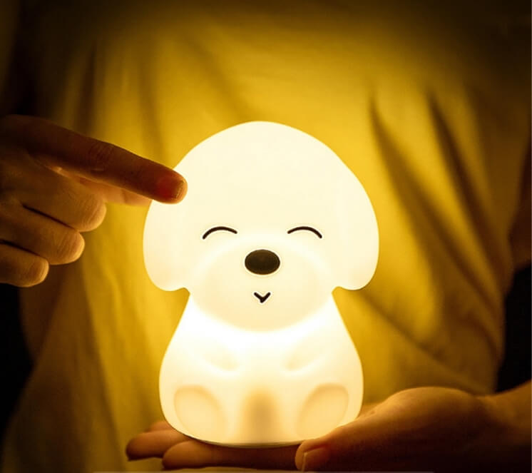 lampada da notte cucciolo di cane