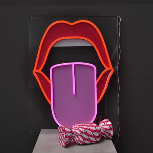 bocca led con caramella decorativa pattern