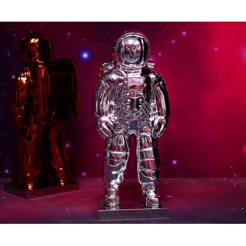 Statuetta di astronauta colore argento