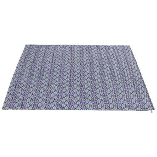 Telo con stampa geometrica blu