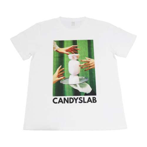 Maglietta bianca con stampa candyslab caramella bianca