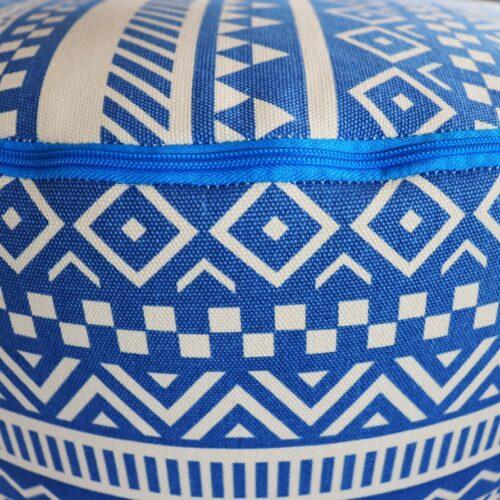 Stampa geometrica blu e bianca