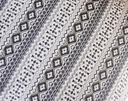 Stampa geometrica nera e bianca
