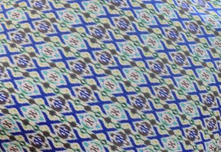 Stampa geometrca blu