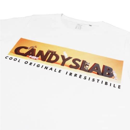 Maglietta bianca con stampa candyslab